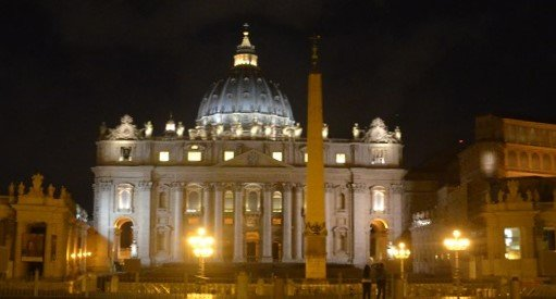 St. Peter's Basilica in the Vatican.