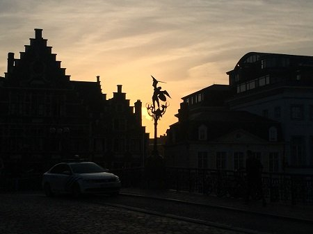 Ghent at sundown
