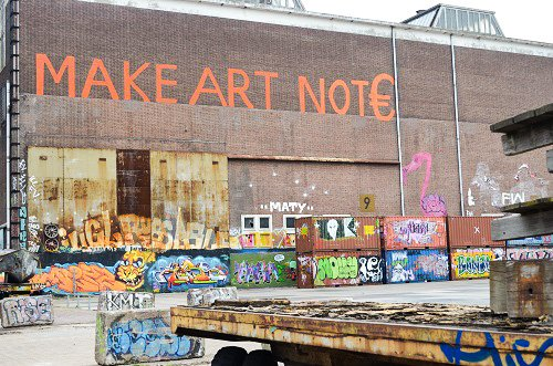 The artists of Amsterdam adorn the old shipping containers of the NDSM wharf.
