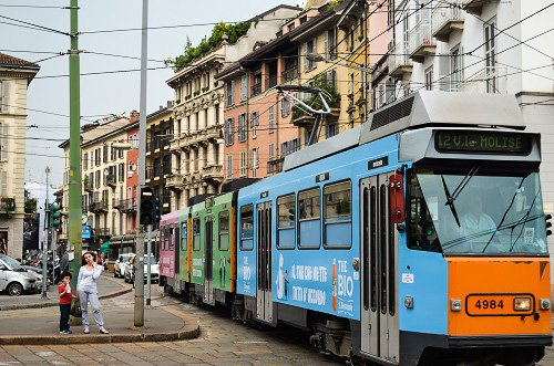 The public transport system in Milan is vast and easy to use.