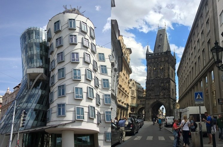 Dancing House and Powder Tower