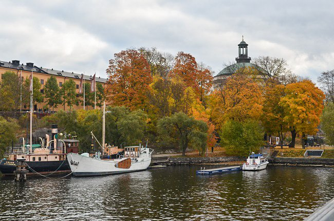 Fall in Stockholm Sweden