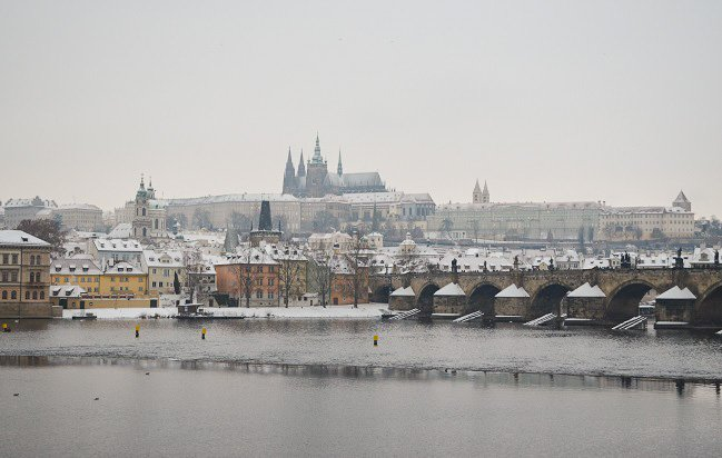 prague winter