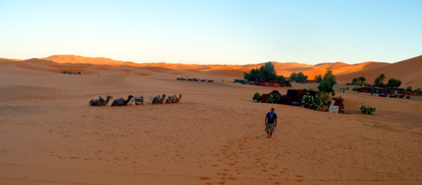 camping in the sahara