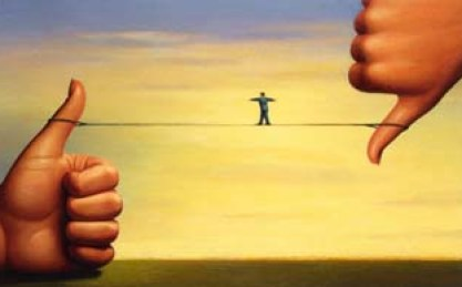 Tightrope Between Thumbs