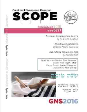 Rosh Hashanah Scope 2016