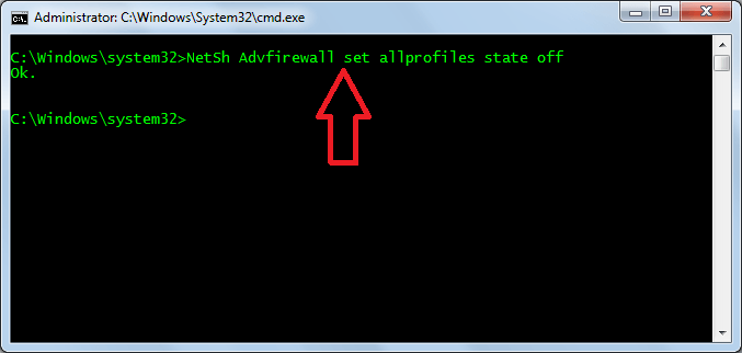 Disable-Windows-Firewall-using-cmd