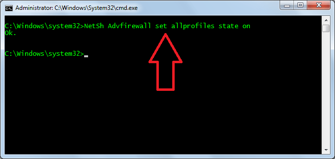 Enable-Windows-Firewall-using-cmd