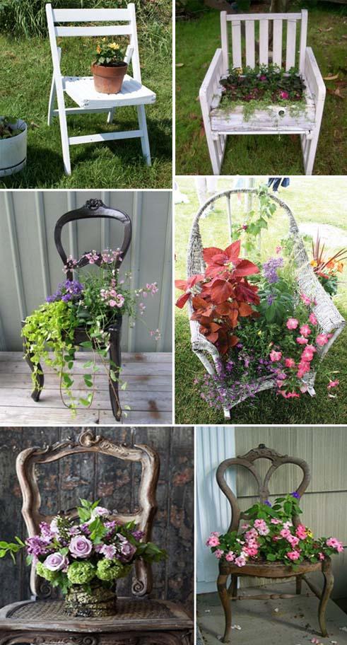 استخدام الكراسى مع الزهور
