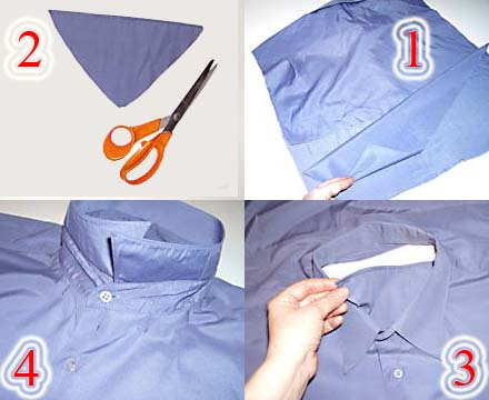 خطوات تنفيذ خدادية من قميص قديم