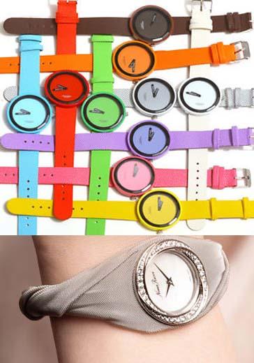 ساعات يد بألوان متعددة تناسب ساعات النهار