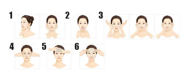 طريقة تدليك الوجه