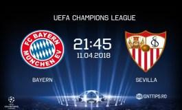 Ponturi fotba - Bayern - Sevilla  - UEFA Champions League - 11.04.2018