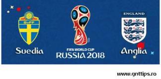 Ponturi fotbal - Suedia - Anglia - Campionatul Mondial - Sferturi de finala - 07.07.2018
