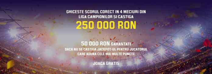 jackpot de 250 000 de ron