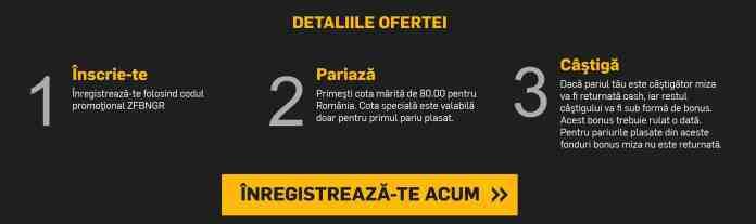 Muntenegru - Romania cote pariuri