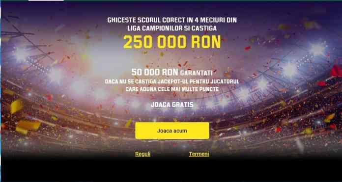 castiga gratis 250 000 de ron