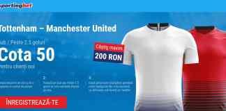 Tottenham vs Manchester United - cota 50.00