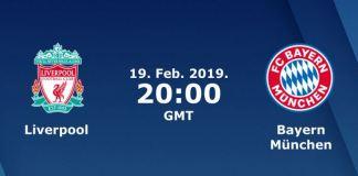 Liverpool vs Bayern Munchen (19 feb) - cote pariuri online