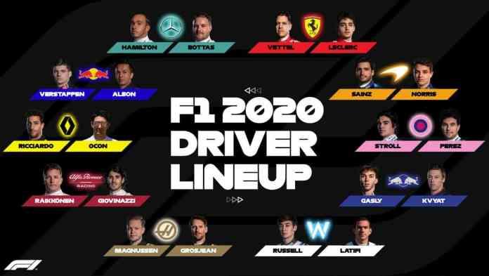 F1 2020 driver lineup