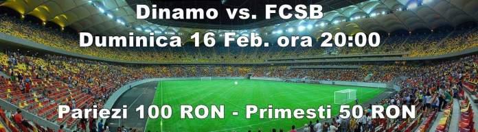 Promotii pariuri Dinamo - FCSB