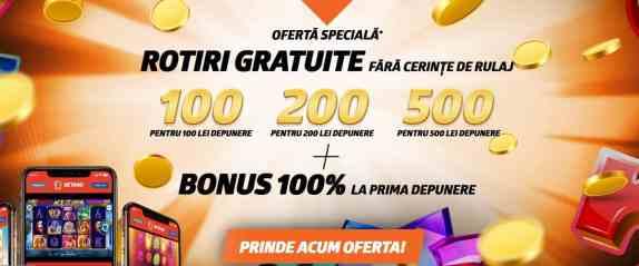 Cum poti primi 500 de Rotiri Bonus!