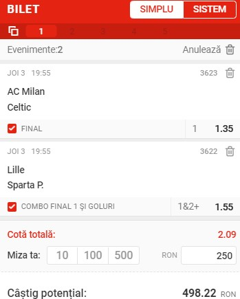 Prezentare cote Superbet - Cota 2 Europa League