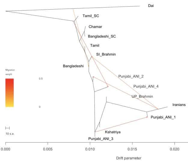 Punjabi genetic variation in 1000 Genomes: Hindu caste in