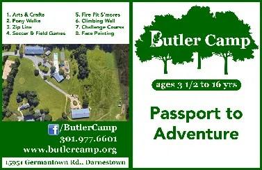 Butler Camp Passport - a front page sample of the GeoCache Passport - Custom GPS GeoCache Challenge program with GO-Adventures
