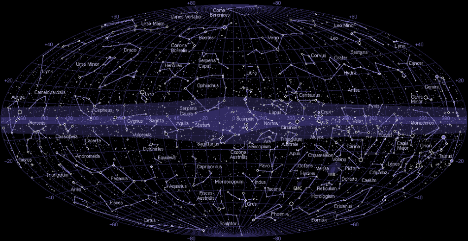 The 88 Star Constellations of the Night Sky - STAR CONSTELLATIONS - Go Astronomy