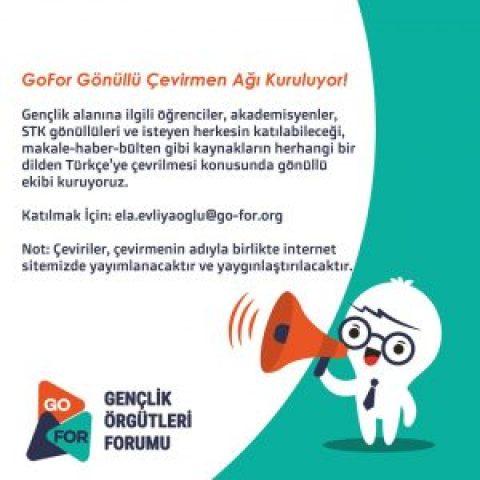 GoFor Gönüllü Çevirmen Ağı Kuruluyor !