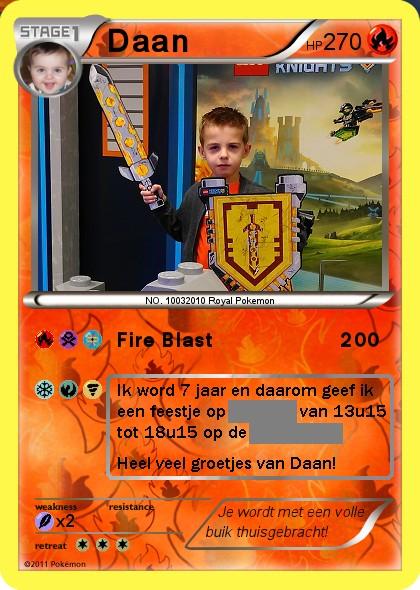 Pokémonkaart uitnodiging