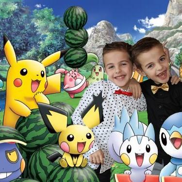 Pokémon met kind foto taartplaatje