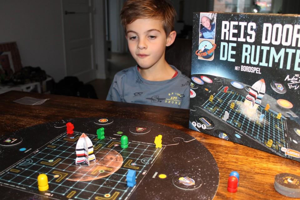 Bordspel Reis door de Ruimte review voor kinderen vanaf 8 jaar Andre kuipers