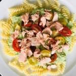 { Recept } | Pasta met broccolisaus, zalm en tomaatjes