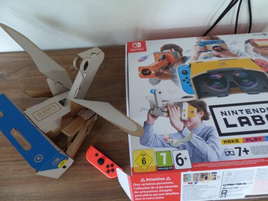 Nintendo Labo VR-pakket vogel bouwen