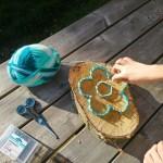 Moederdag knutsel: bloem op hout voor Moederdag