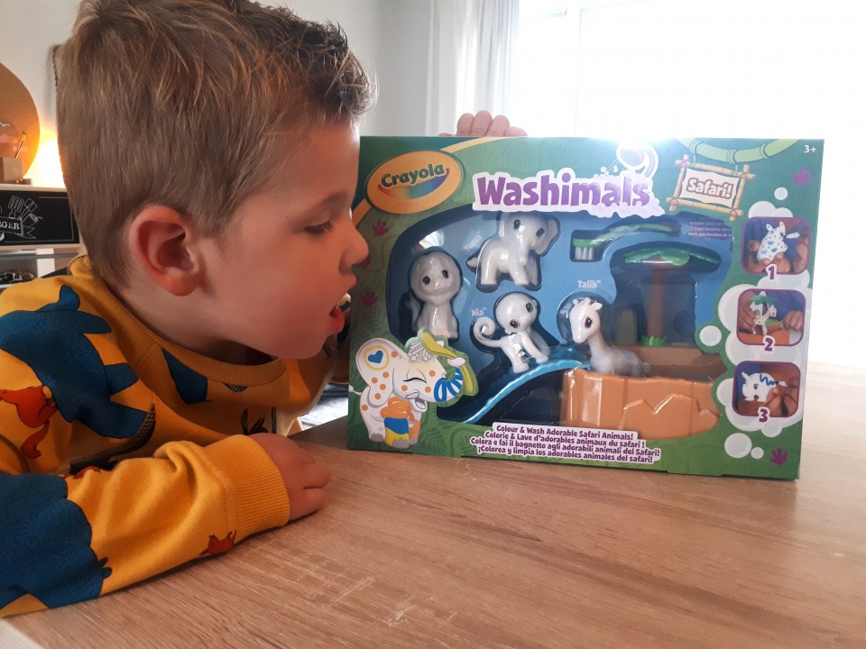 { Review } | Washimals Safari Set van Crayola