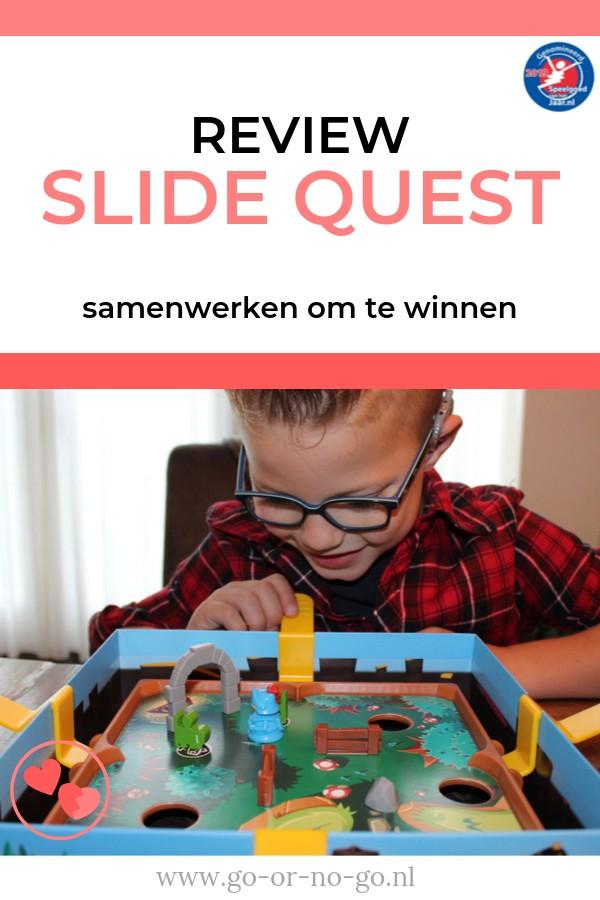 Slide Quest van Asmodee is genomineerd voor de Speelgoed van het Jaar verkiezing Nederland. Dit coöperatieve spel speel je samen en is super spannend!