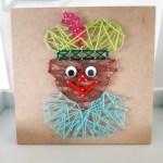 Knutsel een Spijkerbord Piet voor Sinterklaas