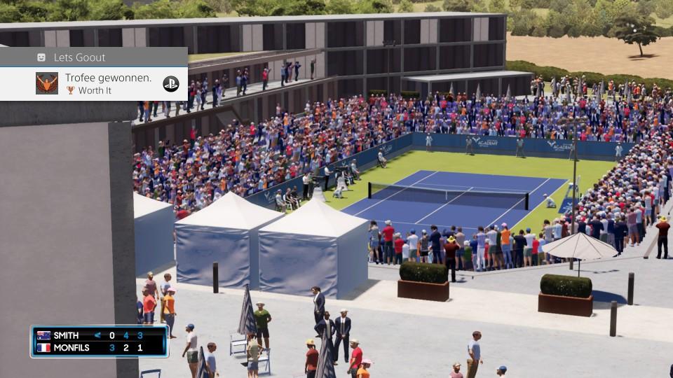 Tennisgame Playstation