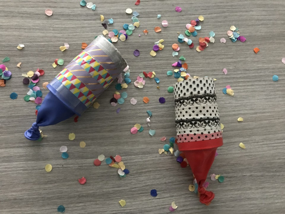 confetti schieter maken met wc rol uitleg