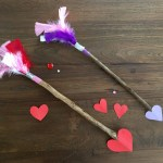 Valentijnsknutsels voor kinderen: Pijl van Cupido en hartjes