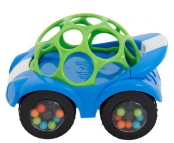 rijdende auto bal