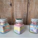 DIY | Zout kleuren met stoepkrijt en gekleurde zandlaagjes maken