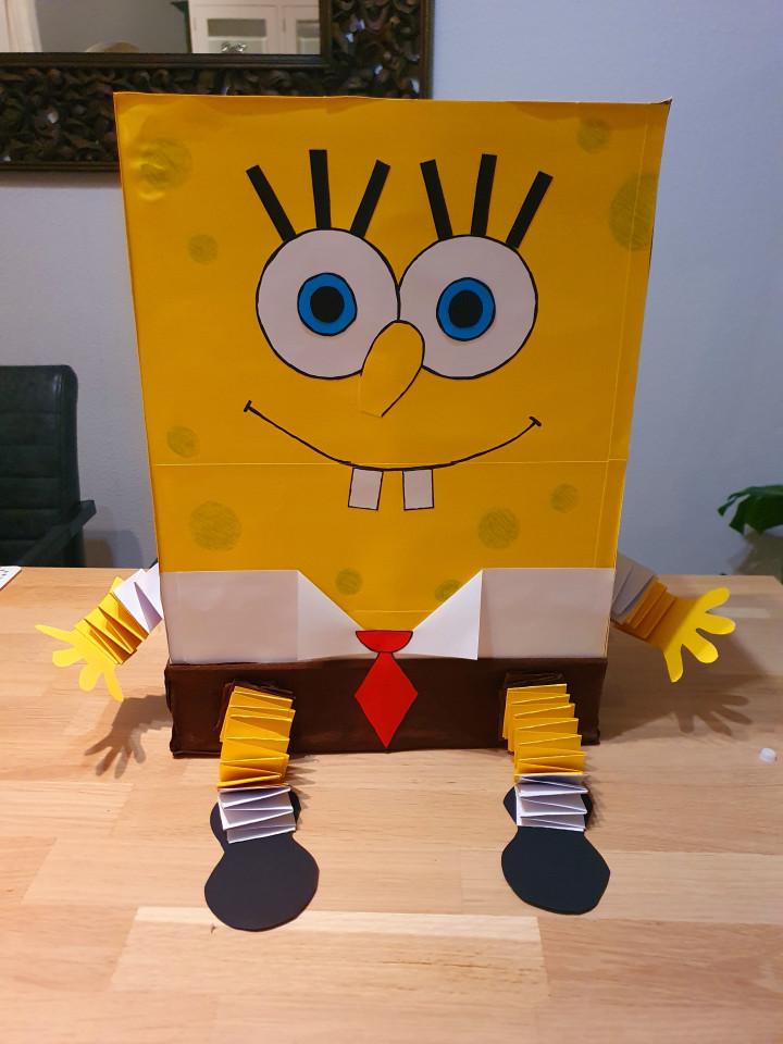 Sinterklaas SpongeBob surprise knutselen uitleg