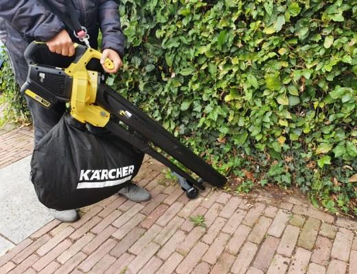 Wij testen de Kärcher BLV 18-200 accu bladblazer. Deze kan tot maximaal 200 km/u blazen en tot 130 km/u zuigen.