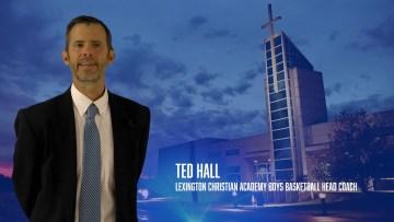 Coach Ted Hall of LCA Boys Basketball