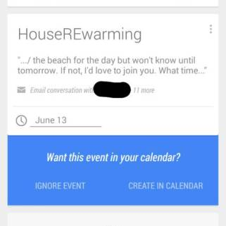 Google Now Termine aus Gmail