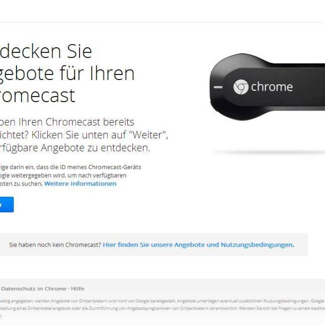 Chromecast-Angebot für play Music All Access